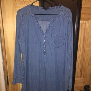 Express long sleeve chambray dress